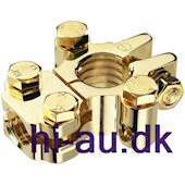 MONACOR Negativ terminal battery clamp gold plated