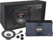 "AUDIO SYSTEM M-SET EVO. FORSTÆRKER, 12"" BAS OG 165MM COMPOSÆT"