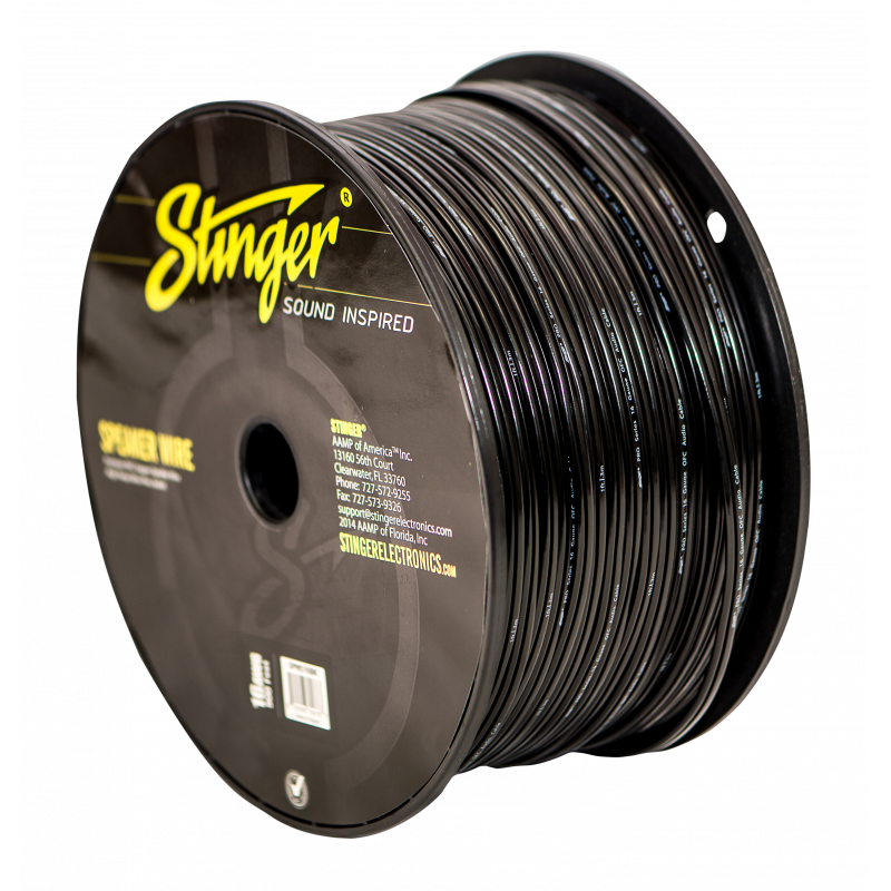 STINGER PRO 2 X 1,5MM2 SORT 152,4METER