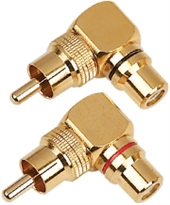 AUDIO-SYSTEM RCA VINKEL CONNECTOR